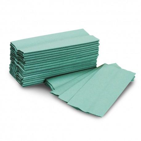 C-Fold Luxury Hand Towel 1Ply Green