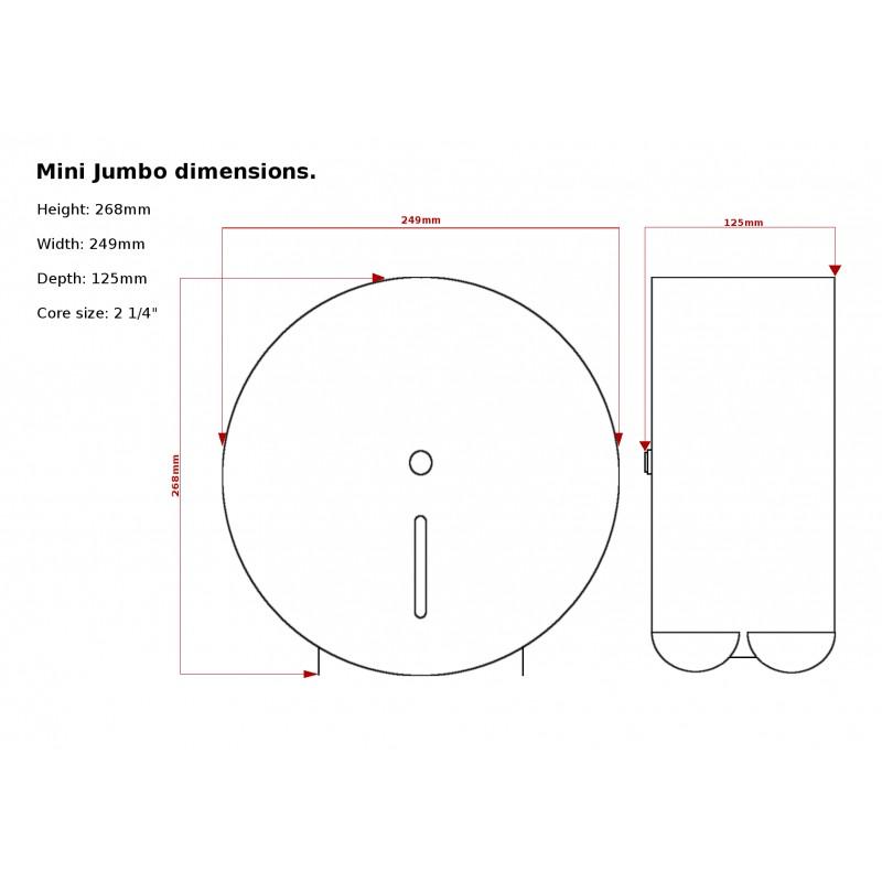 C21 Hygiene Scd01 Mini Jumbo Toilet Roll Holder Silver