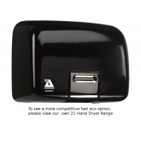Airdri Quarto Hand Dryer Black Enamelled Cast Iron