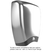 Airdri Quazar Hand Dryer Brushed Steel