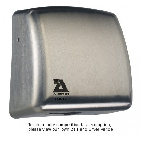 Airdri Quote Hand Dryer Brushed Steel
