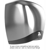 Airdri Quest Hand Dryer Brushed Steel