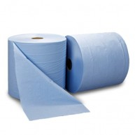 C21 Blue Centrefeed Embossed 1x6 Rolls 150m