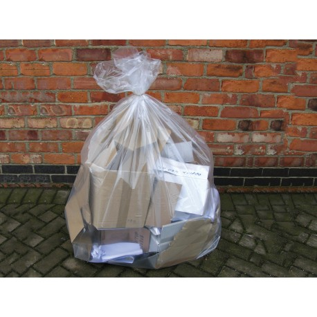 CT9996 - Clear Compactor Sacks 20x35x45 (1x100)