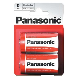 Panasonic Zinc Carbon D Battery (1x2)